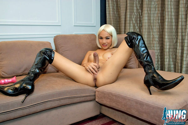 t hung helen whip 03 Asian Ladyboy Hung Helen And Her Big Black Whip!