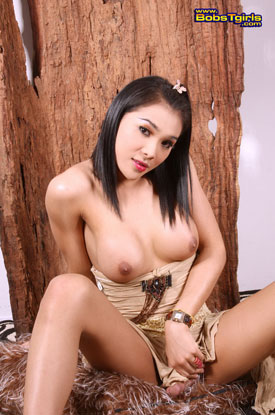 t fanta bobstgirls 02 Asian Ladyboy Fanta Strips Down On bobs Tgirls!
