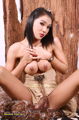 t fanta bobstgirls 04 Asian Ladyboy Fanta Strips Down On bobs Tgirls!