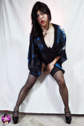 t krissy4u asian dress 04 Asian Ladyboy Krissys Asian Dress!