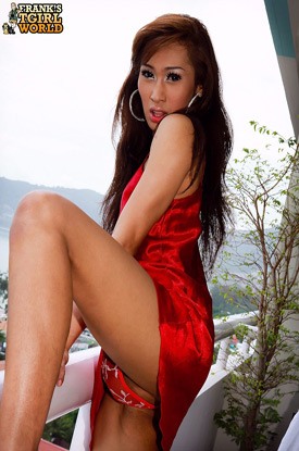 Asian Ladyboy May on Frank's Tgirl World!