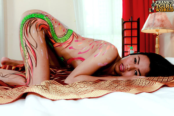 Asian Ladyboy Christine at Frank's Tgirl World!