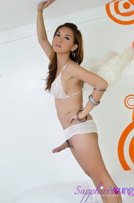 Asian Ladyboy Sapphire Young!
