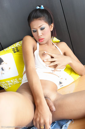 t asia ladyboy ck glamour 03 Asian Ladyboy CK In Her Denim Skirt At Ladyboy Glamour!