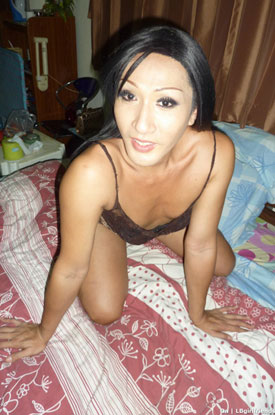 t asian ladyboy on 01 Asian Ladyboy On Poses For Pictures On Ladyboy Girlfriends!