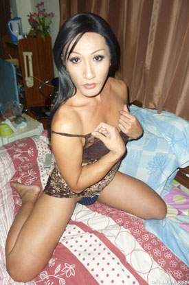 t asian ladyboy on 02 Asian Ladyboy On Poses For Pictures On Ladyboy Girlfriends!