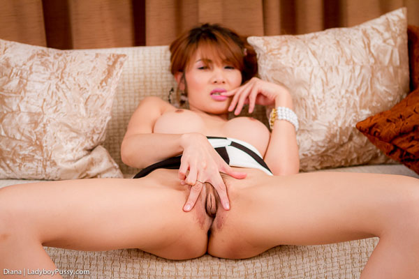t postop asian ladyboy diana 02 Post Op Asian Ladyboy Diana Spreads Her Legs On Ladyboy Pussy!
