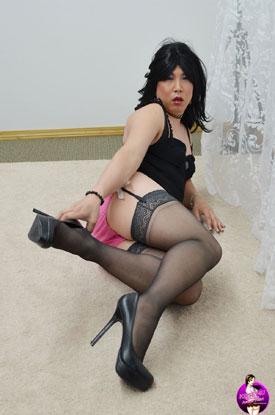 Krissy4u - Naughty Asian Tgirl!