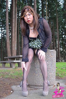 Asian Ladyboy Krissy on Krissy4u - Naughty Asian Tgirl!